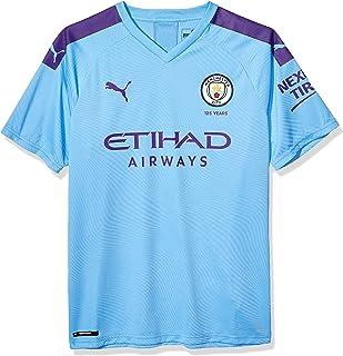 PUMA Men's Standard Manchester City MCFC Home Authentic Shirt, Team Light Blue-Tillandsia Purple, S