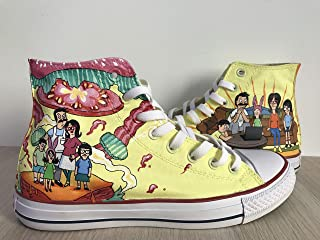 83e9155a67 Bob s Burgers Chuck Taylors Sneakers Hi Tops Customised Shoes Hi Tops Shoes  Custom Painted Shoes Sneakers