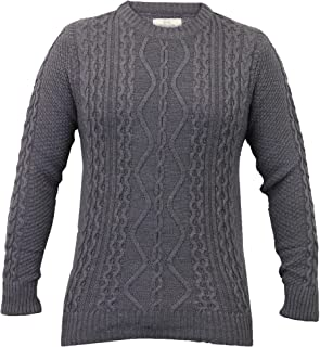 Crosshatch Mens Jumpers Cable Knitted Jacquard Pullover Top Crew Neck Winter New