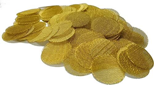 OLD SCHOOL QUALITY 100+ BRASS PIPE SCREENS Made in the USA SIZE: ONE INCH