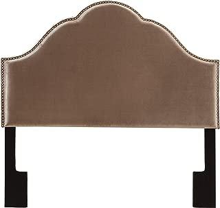 Pulaski Glam Upholstered Headboard, Queen, Velvet Chrome Silver