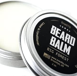 Big Forest Beard Balm - Beard Butter For Men 2 OZ - Blend of Premium Organic Oils & Shea Butter - Light Hold - Great for Grooming Facial Hair of All Lengths & Styles