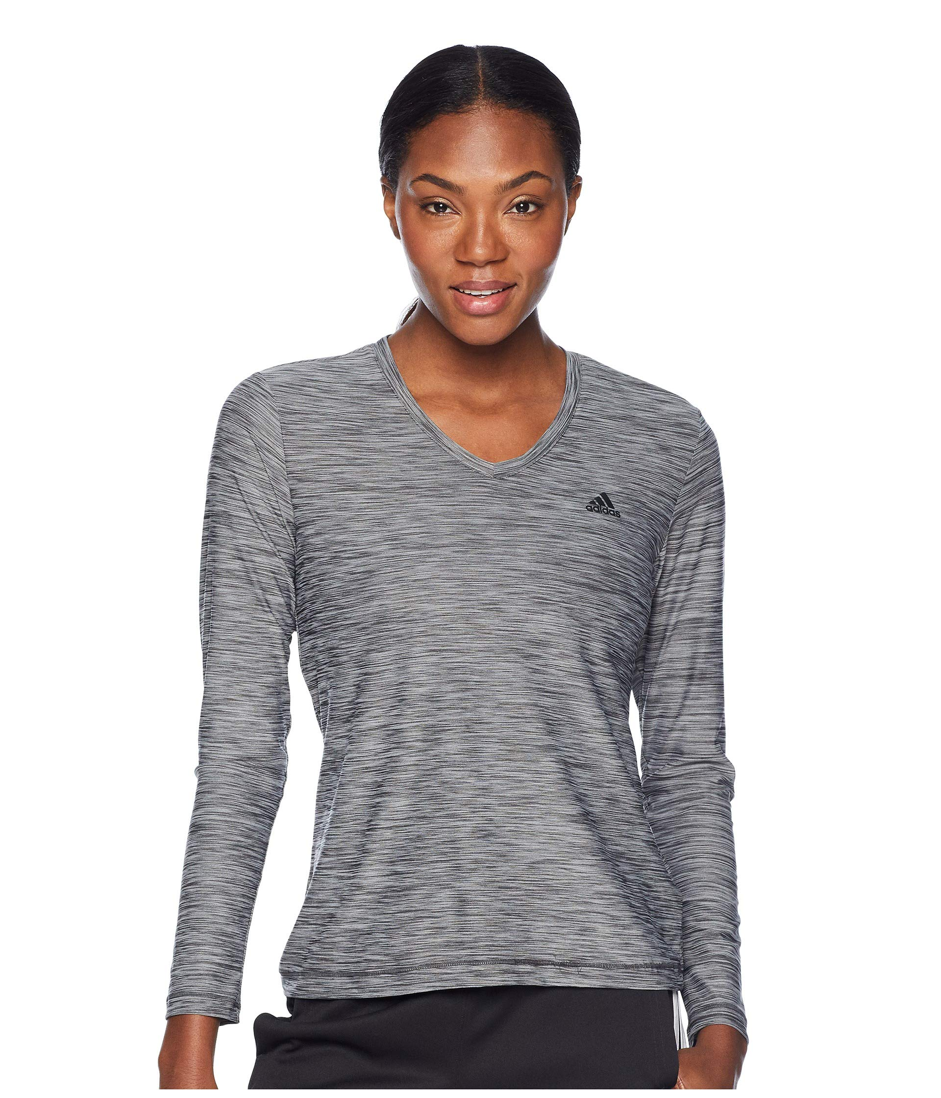 T Sleeve Tech Carbon Long colored shirt Heather black Adidas TawOqq