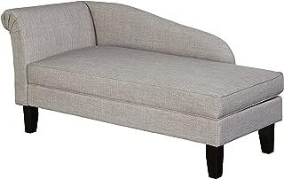 Target Marketing Systems Leena Storage Chaise, Single, Gray