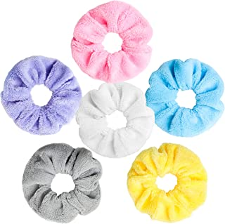 WATINC 6 Pcs TowelScrunchie Hair Drying Scrunchies Soft MicrofiberThick Fuzzy Scrunchy for Frizz Free Hair Light Bobbles...
