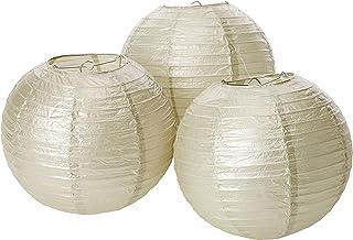 Silver Paper Hanging Lanterns (3 ct)