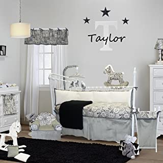 Best black and white paisley baby bedding Reviews