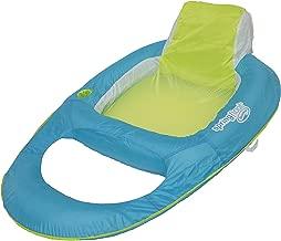 SwimWays Spring Float Recliner - Swim Lounger for Pool or Lake - Light Blue/Lime