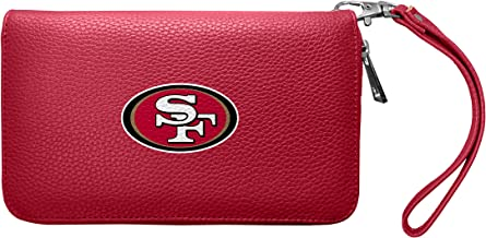 Littlearth NFL womens Nfl Soft Pebble Organizer Wallet - Zip Closure Wallet - Wristlet