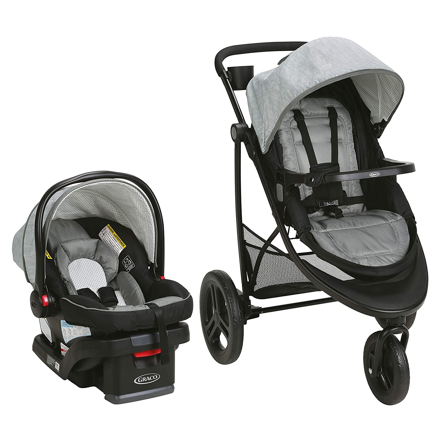Graco Modes 3 Essentials LX Travel System   Includes Modes 3 Essentials LX Stroller and SnugRide SnugLock 30 Infant Car Seat, Mullaly