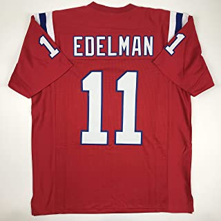Unsigned Julian Edelman New England Red Custom Stitched Football Jersey Size XL New No Brands/Logos