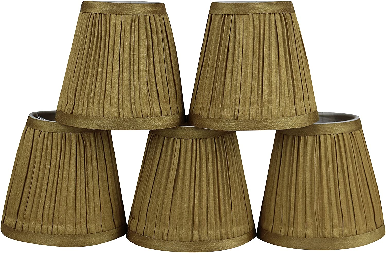 Memphis Mall Urbanest Set of 5 Mushroom 3-inch Inexpensive Shade Chandelier Lamp Pleated