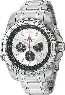 ساعة اوشينت للرجال افيادور بايلوت كوارتز مع سوار من الستانليس ستيل، فضي، 22 (OC0110)