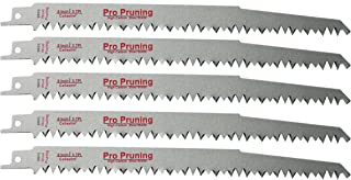 9-Inch Wood Pruning Reciprocating/Sawzall Saw Blades (5 TPI) - 5 Pack