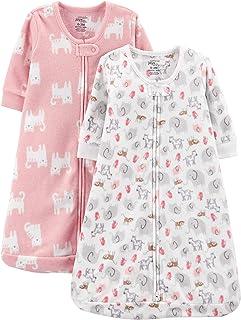 Girls' 2-Pack Microfleece Sleepbag Wearable Blanket