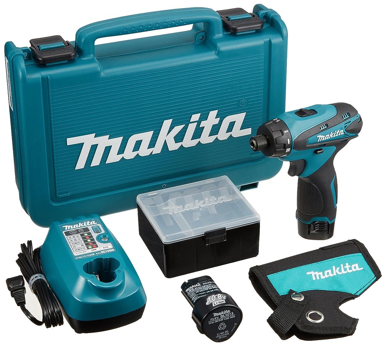 修士号錆びファイバマキタ(Makita)  充電式ドライバドリル 10.8V 1.3Ah バッテリー2個付き DF030DWX