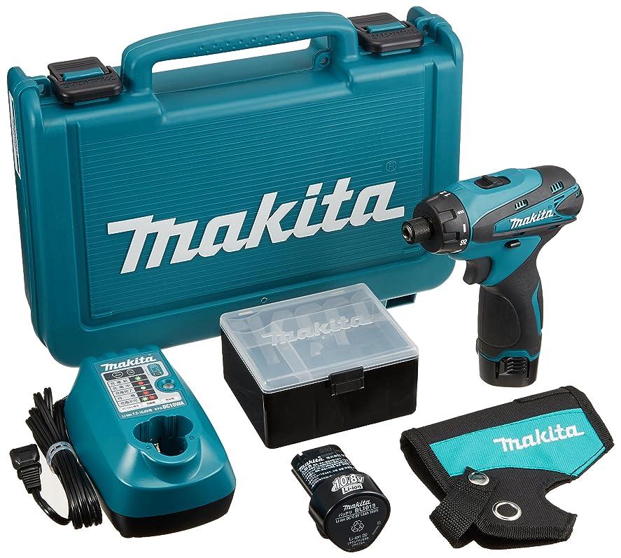 ボウリング認知行マキタ(Makita)  充電式ドライバドリル 10.8V 1.3Ah バッテリー2個付き DF030DWX
