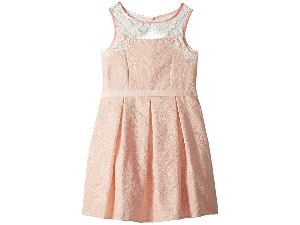 Us Angels Sleeveless Brocade Dress (Big Kids) (Blush) Girl