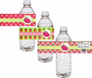 strawberry shortcake water bottle labels