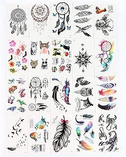 Waterproof Temporary Tattoos Flash Tattoo Stickers 3D Dream Catcher tattoos for Women and kids Transferable Child Fake Tattoo 20pcs/lot