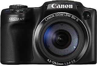 Canon PowerShot SX510 HS Digitalkamera (12,1 MP, 30-Fach Opt. Zoom, 7,6cm (3 Zoll) LCD-Display, bildstabilisiert) schwarz