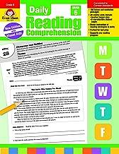 Evan-Moor Daily Reading Comprehension, Grade 6 Teaching Supplement - Homeschooling & Classroom Resource Workbook
