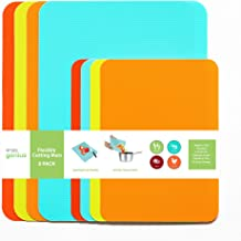 Simply Genius (8 Piece) Plastic Cutting Boards for Kitchen Dishwasher Safe, Flexible Cutting Mat Kitchen, Non Slip Cutting...