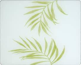 """Corelle 92016BLH Corelle Bamboo Leaf 20 x 16"""" Counter Saver Tempered Glass Cutting Board"""