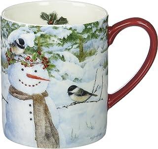 Lang Chickadee Snowman Mug by Jane Shasky, 14 oz., Multicolored