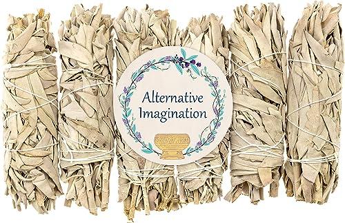 lowest Alternative outlet sale Imagination Medium California White Sage Smudge Sticks outlet online sale (6) outlet sale