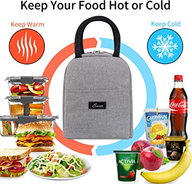 Lunch Bags for Women - EHANDS Insulated Thermal Lunch Bag for Lunch Box and Container, Small Lunch Box Large Capacity for Adu