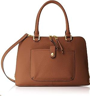 Calvin Klein womens Calvin Klein Blanche Pebble Leather Dome Satchel