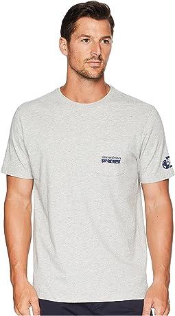 Shark Week Sharks and Stripes Pocket T-Shirt
