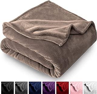 Bare Home Microplush Fleece Blanket - Full/Queen - Ultra-Soft Velvet - Luxurious Fuzzy Fleece Fur - Cozy Lightweight - Easy Care - All Season Premium Bed Blanket (Full/Queen, Taupe)