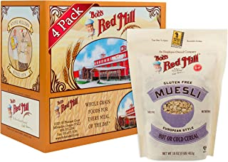 Bob's Red Mill Resealable Gluten Free Muesli Cereal, 16 Oz (4 Pack)