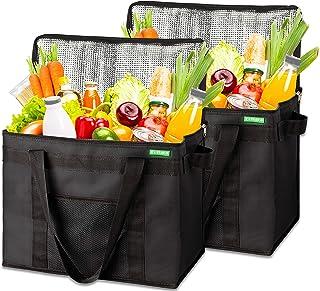 COTTARA Neu Premium Kühltasche faltbar 2er Pack – Einkaufstasche groß mit verstärktem faltbarem Boden – Ideal als Isoliert...