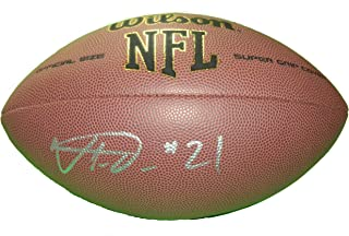 Buffalo Bills Vontae Davis Autographed Hand Signed NFL Wilson Football with Proof Photo of Signing and COA, Indianapolis Colts, Miami Dolphins, University of Illinois Fighing Illini