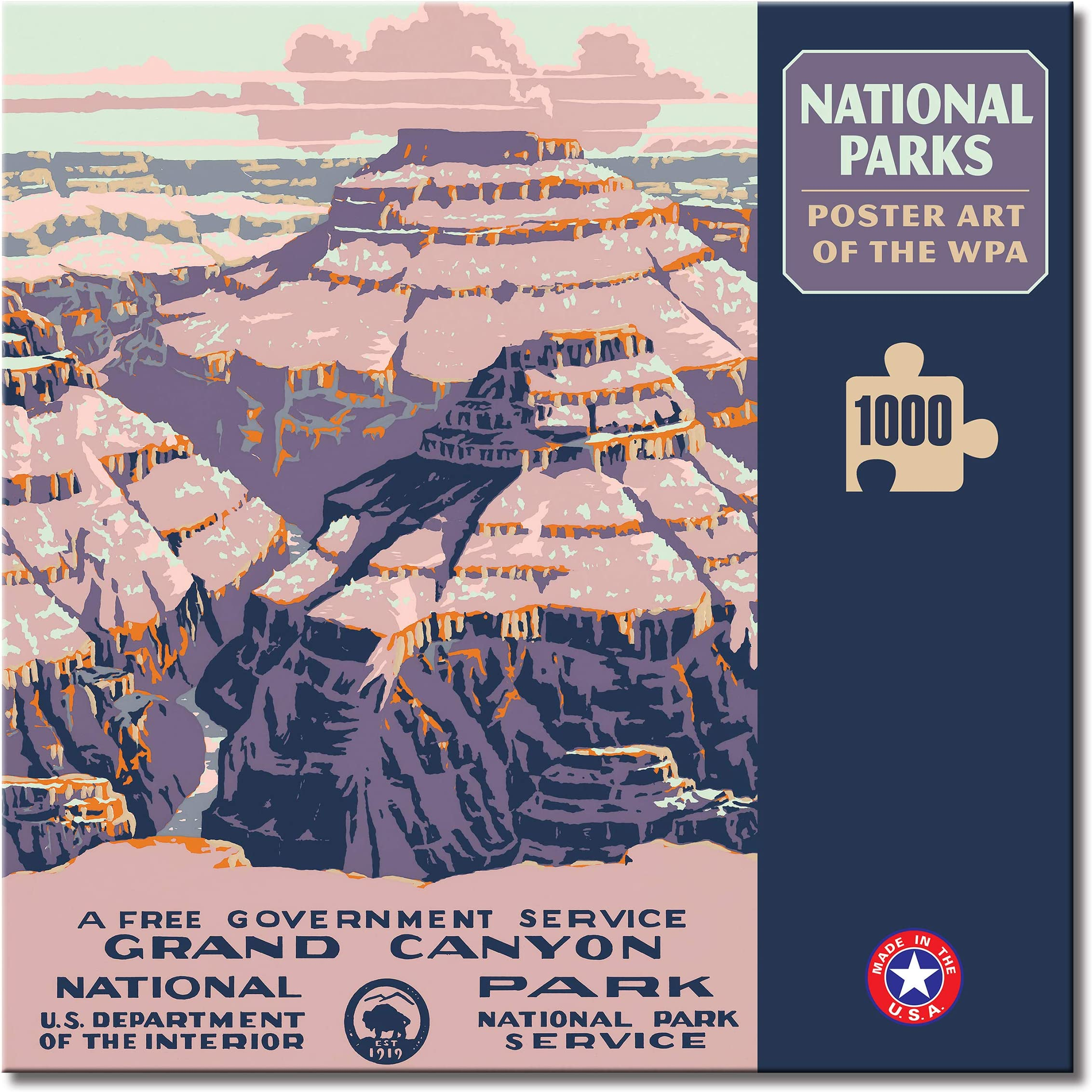 WPA Poster Padded Camera Strap National Park DSLR Camera Strap