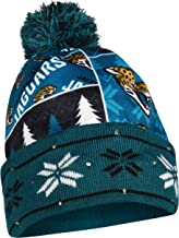 Jacksonville Jaguars Exclusive Busy Block Printed Light Up Beanie