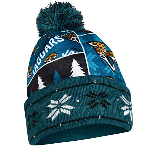 Jacksonville Jaguars Exclusive Busy Block Printed Light Up Beanie bc13711b1