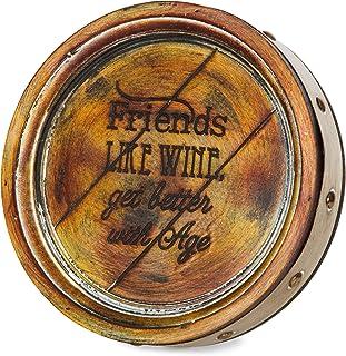 Pavilion Gift Company 22076 Friends Wine Barrel Plaque, 8-Inch