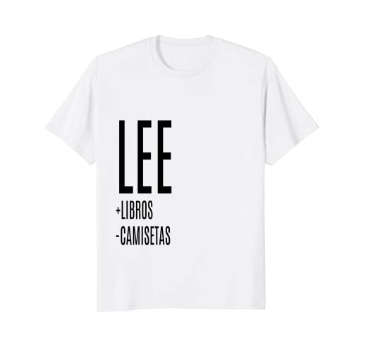 women men lee + books - t-shirts in spanish funny