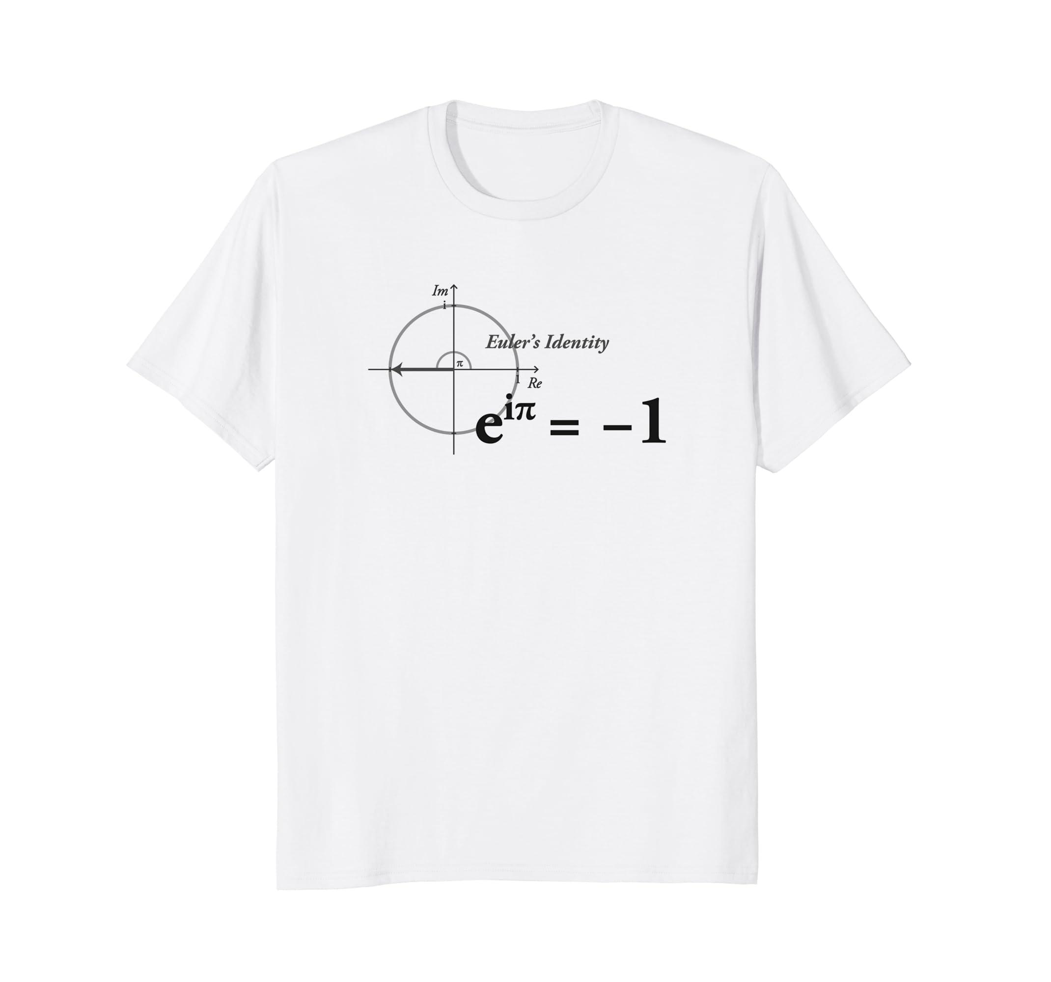 819a0068 Amazon.com: Math Shirts - Euler Identity Formula - T-Shirt: Clothing