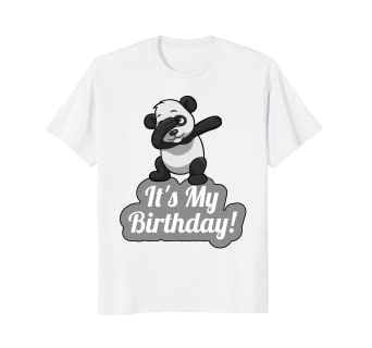 Amazon Its My Birthday Dabbing Panda T Shirt For Men Women