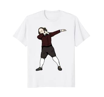db8aa6b3da Image Unavailable. Image not available for. Color: Shakespeare Dabbing Shirt  - Funny English Teacher Shirts