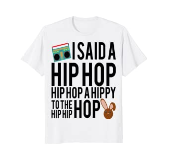 ae4abcf4f Image Unavailable. Image not available for. Color: Funny Easter Shirt Hip  Hop Rap Music Bunny Kids ...