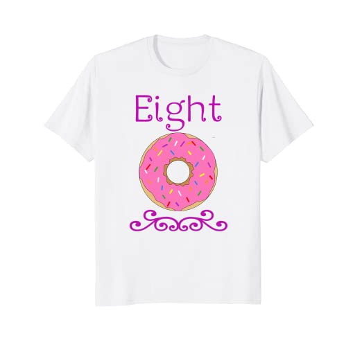 Amazon 8 Year Old Donut Birthday Party 8th T Shirt