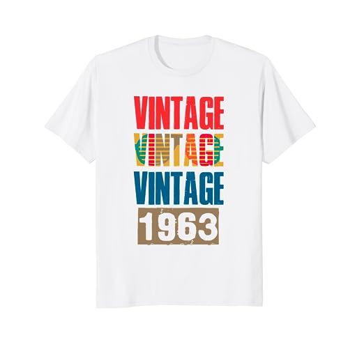 Amazon Vintage Retro 1963 55th Birthday 55 Years Old Gift T