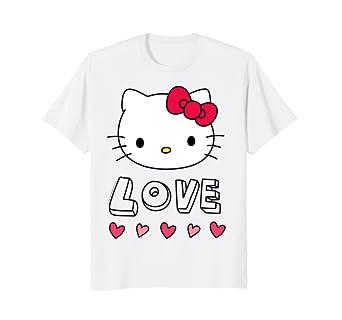 d0229f59 Amazon.com: Hello Kitty Love and Hearts Valentine Shirt: Clothing