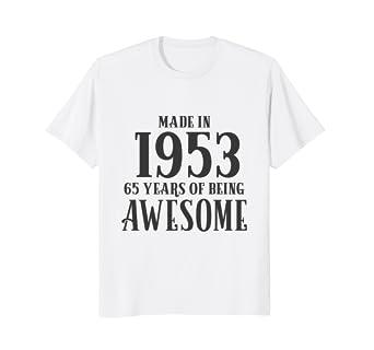 65th Birthday Shirt Grandma Women Age 65 Grandpa Men Gifts